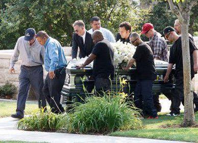 патрик суэйзи фото с похорон