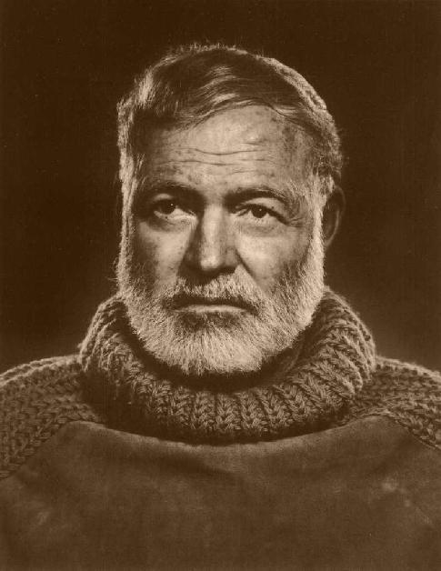 """Attēlu rezultāti vaicājumam """"Ernests Millers Hemingvejs, labāk pazīstams kā Ernests Hemingvejs (angļu: Ernest Miller Hemingway, dzimis 1899. gada 21. jūlijā Oakpārksā, ASV, miris 1961. gada 2. jūlijā Kečamā, Aidaho, ASV), bija amerikāņu rakstnieks un žurnālists. Ernests Hemingvejs bija viens no slavenākajiem 20. gadsimta amerikāņu rakstniekiem. Savas dzīves laikā viņš izdeva 7 noveles un 6 īso stāstu krājumus. Pēc viņa nāves vēl tika publicētas 3 noveles un 4 īso stāstu krājumi. Hemingvejs ir saņēmis Nobela prēmiju literatūrā (1954)[1] un Pulicera balvu (1953)[2] - abas par stāstu """"Sirmgalvis un jūra"""". Ernests Hemingvejs tiek uzskatīts par vienu no t.s. zudušās paaudzes rakstniekiem, viņa darbi ietekmējuši gan ASV, gan Eiropas literatūru. Hemingveja pazīstamākie romāni ir """"Ardievas ieročiem"""" (angļu: A Farewell to Arms, 1929), """"Kam ir un kam nav"""" (angļu: To Have and Have Not, 1937), """"Kam skanēs zvans"""" (angļu: For Whom the Bell Tolls, 1940) un citi, stāsti - """"Kilimandžāro sniegi"""" (angļu: The Snows of Kilimanjaro, 1936), """"Sirmgalvis un jūra"""" (angļu: The Old Man and the Sea, 1952). Ernesta Hemingveja darbos tiek spilgti atklāta cilvēka cīņa ar izmisumu un vientulību, taču pārdzīvot to palīdz paļaušanās uz likteni un godīga, drosmīga attieksme pret dzīvi. Hemingveja darbos tiek uzsvērta doma, ka drosmīgs un domājošs cilvēks nav pakļaujams - viņš vai nu izdzīvo, vai tiek iznīcināts."""""""